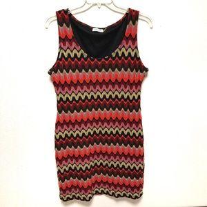 Calvin Klein Knit Wave Pattern Tank Dress 16